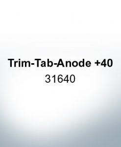 Anoden kompatibel zu Mercury   Trimmanode +40 31640 (AlZn5In)