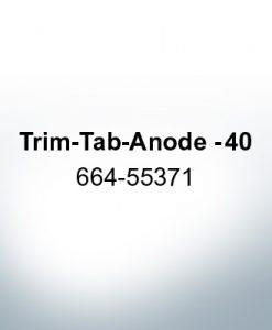 Anoden kompatibel zu Mercury | Trimmanode -40 664-55371 (Zink)