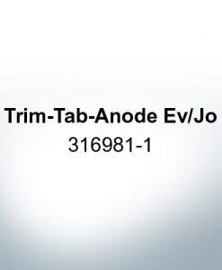Anoden kompatibel zu Mercury   Trimmanode Ev/Jo 316981-1 (Zink)