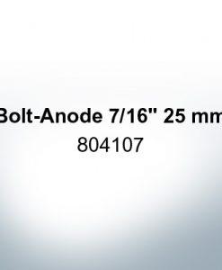 "Anoden kompatibel zu Volvo Penta | Stiftanode 7/16"" 25mm 804107 (Zink)"