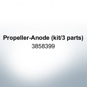 Anodes compatible to Volvo Penta   Propeller-Anode (kit/3 parts) 3858399 (Zinc) 2