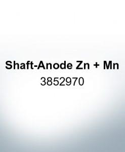 Anoden kompatibel zu Volvo Penta | Schaftanode Zn + Mn 3852970 (AlZn5In)