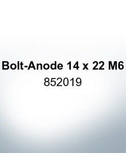Anoden kompatibel zu Volvo Penta | Stiftanode 14 x 22 M6 852019 (AlZn5In)