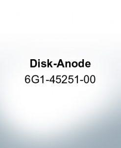 Anoden kompatibel zu Yamaha and Yanmar   Scheibenanode 6G1-45251-00 (AlZn5In)