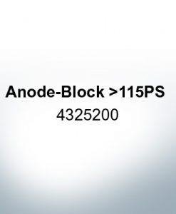 Anoden kompatibel zu Yamaha and Yanmar | Anodenblöckchen >115PS 4325200 (Zink)