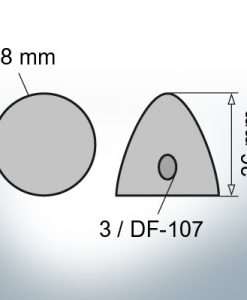 Three-Hole-Caps | DF-107 Ø78/H36 (Zinc)