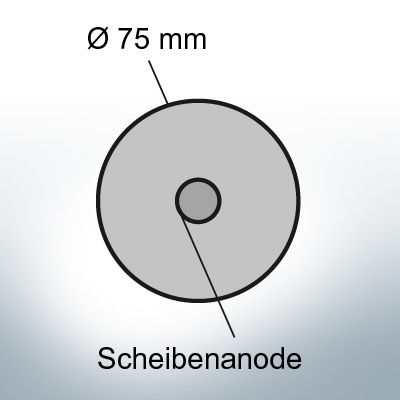 Disk-Anodes Ø 75mm | Bundle (Zinc) 3
