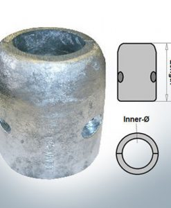Wellenanode mit metrischem Innendurchmesser 90 mm (AlZn5In)