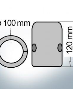 Wellenanode mit metrischem Innendurchmesser 100 mm (Zink)