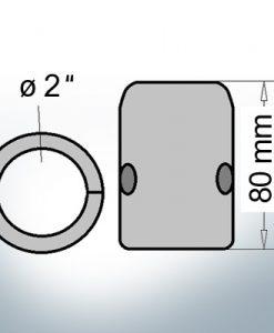 Wellenanoden mit zölligem Innendurchmesser 2'' (AlZn5In)