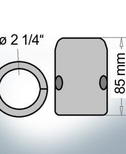 Wellenanoden mit zölligem Innendurchmesser 2 1/4'' (AlZn5In)