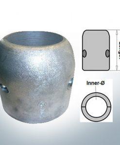 Wellenanoden mit zölligem Innendurchmesser 2 1/2'' (AlZn5In)
