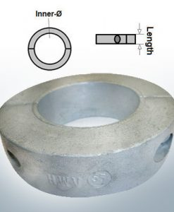 Wellenanoden Ringe mit metrischem Innendurchmesser 70 mm (Zink)
