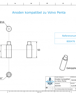 Anodes compatible to Volvo Penta   Bolt-Anode 7/16