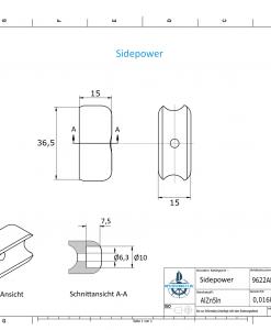 Sidepower 687-71180 Volvo 5,3 KW (AlZn5In) | 9622AL