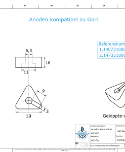 Anodes compatible to Gori   Bow-Thruster-Anode 18