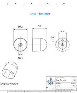 Bow Thruster BP 1210 220 Kgf (Zinc) | 9628