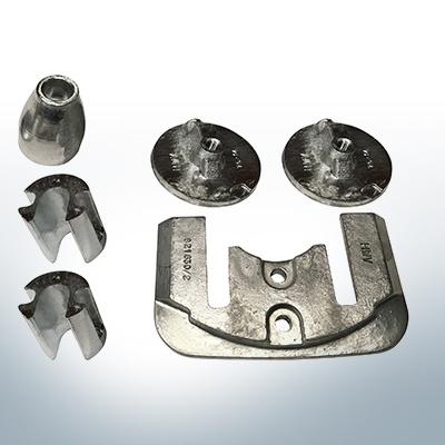 Sets of anodes | Mercruiser BRAVO III since 2003 (AlZn5In) | 9701AL 9702AL 9719AL 9721AL