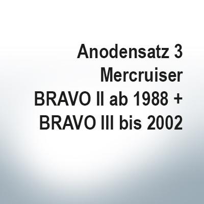 Sets of anodes | Mercruiser BRAVO II since 1988 BRAVO III until 2002 (AlZn5In) | 9701AL 9702AL 9721AL