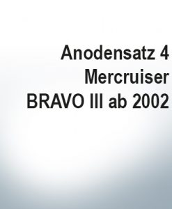 Sets of anodes | Mercruiser BRAVO III since 2003 (AlZn5In) | 9701AL 9702AL 9719AL 9721AL