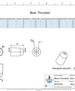 Bow-Thruster 687-201180 BOW 50 / SW24 (AlZn5In) | 9615AL