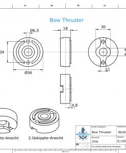 Bow Thruster BP-1185 75-80-95 Kgf (Zinc) | 9620
