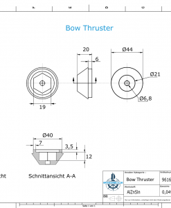 Bow-Thruster 687-3180 BOW 55-75-95 Sleipner (AlZn5In) | 9616AL