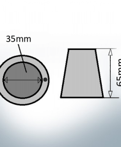 Shaftend-Anodes with carrier punch 35 mm (AlZn5In)   9637AL