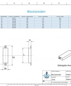 Block- and Ribbon-Anodes Square L150/185 (Zinc) | 9300