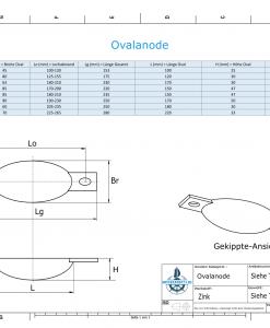 Block- and Ribbon-Anodes Oval L100/112,5 (Zinc)   9302