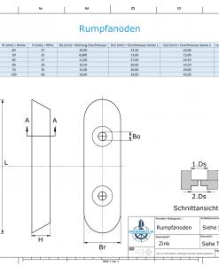 Block- and Ribbon-Anodes Block L320/200 (Zinc) | 9348