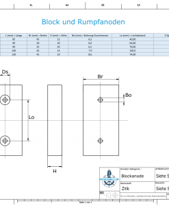 Block- and Ribbon-Anodes Block L80/40 (Zinc) | 9310