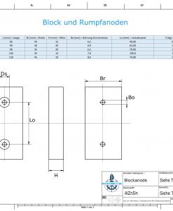 Block- and Ribbon-Anodes Block L120/75 (AlZn5In) | 9314AL