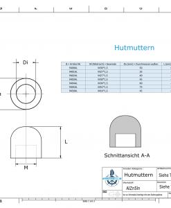 Nut-Caps M36x1,5 Ø60/H40 (AlZn5In) | 9404AL