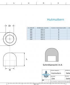 Nut-Caps M36x1,5 Ø60/H40 (Zinc) | 9404