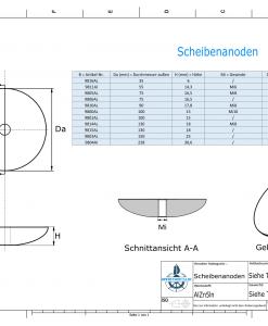 Disk-Anodes Ø 130mm | M8 (AlZn5In) | 9814AL