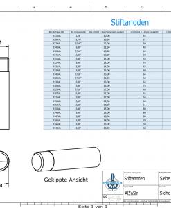Bolt-Anodes 1/4'' 20G Ø10/L58 (AlZn5In) | 9109AL