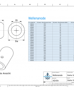 Shaft-Anodes with imperial inner diameter 3'' (AlZn5In)   9024AL