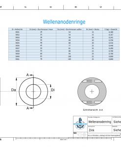 Shaft-Anode-Rings with metric inner diameter 55 mm (Zinc) | 9038
