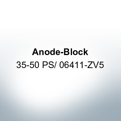 Anodes compatible to Honda | Anode-Block 35-50 PS/06411-ZV5 (AlZn5In) | 9547AL