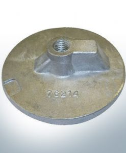 "Anodes compatible to Mercury | Uni plate 1 2 76214 7/16"" Whitw. (AlZn5In) 