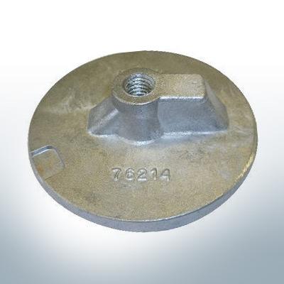 "Anodes compatible to Mercury | Uni plate 1 2 76214 7/16"" Whitw. (Zinc) | 9701"