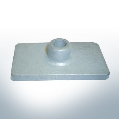 Anodes compatible to Mercury | Anode-Plate 85824 (Zinc) | 9710