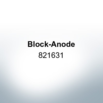 Anodes compatible to Mercury | Block-Anode 821631 (AlZn5In) | 9712AL