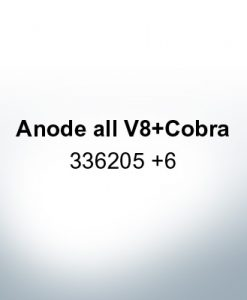 Anodes compatible to Mercury | Anode all V8 Cobra 336205 6 (Zinc) | 9534