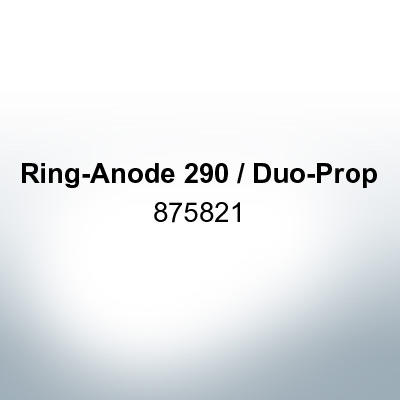 Anodes compatible to Volvo Penta   Ring-Anode 290 / Duo-Prop 875821 (Zinc)   9203