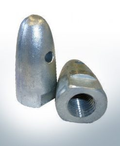 "Anodes compatible to Volvo Penta | Cap-Anode 3/4"" 833913 (AlZn5In) 