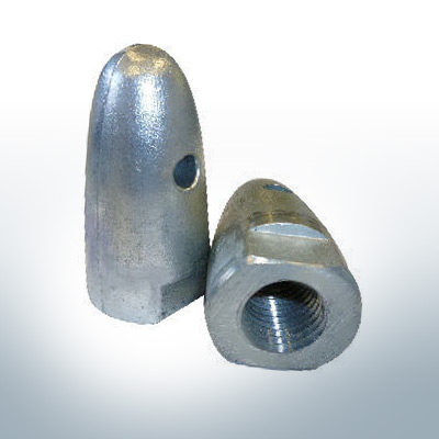 """Anodes compatible to Volvo Penta   Cap-Anode 3/4"""" 833913 (AlZn5In)   9216AL"""