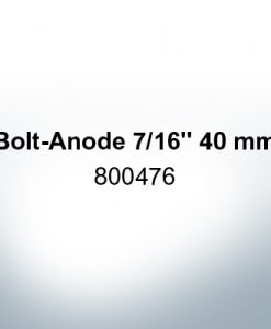 "Anodes compatible to Volvo Penta | Bolt-Anode 7/16"" 40mm 800476 (Zinc) 