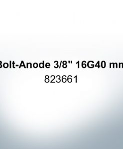 "Anodes compatible to Volvo Penta | Bolt-Anode 3/8"" 16G40mm 823661 (Zinc) 